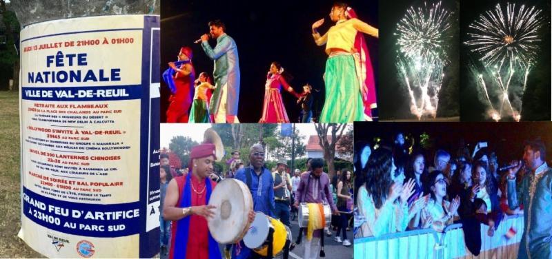 indian cultural event celebrating bastille day val de reuil