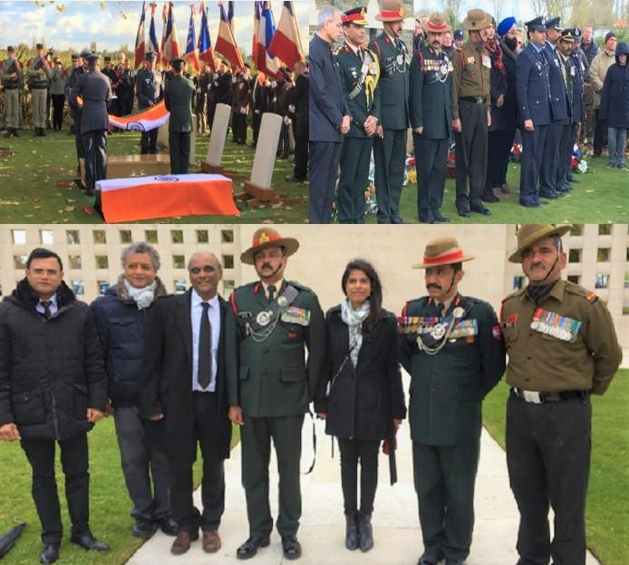 GOPIO-Paris Celebrate Armistice Day 2017 Ceremony