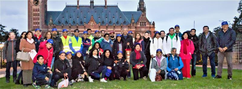 Peace Walk by EU Group at Peace Palace