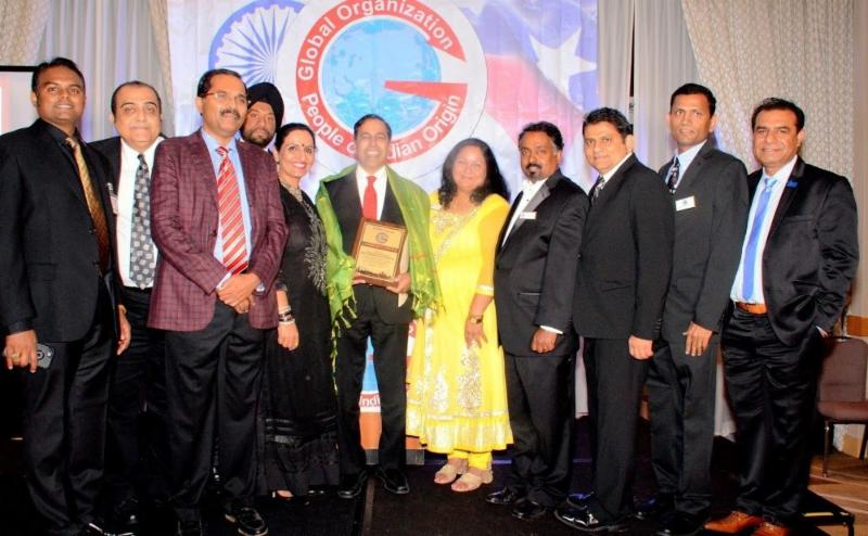 GOPIO-Chicago Honors Rep. Raja Krishnamoorthi with Board Members