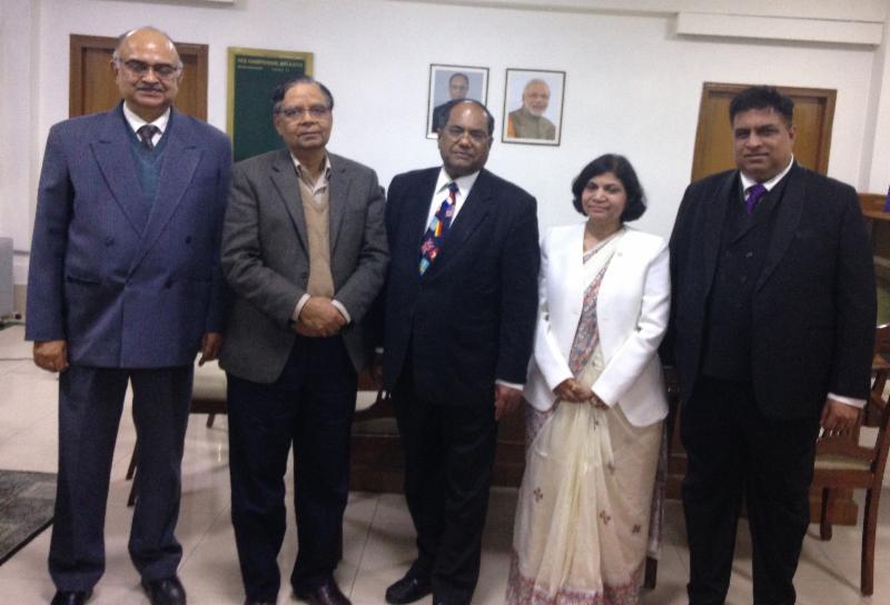 GOPIO officials with Niti Ayog Vice Chairman Dr. Arvind Panagariya at the Yogna Bhavan
