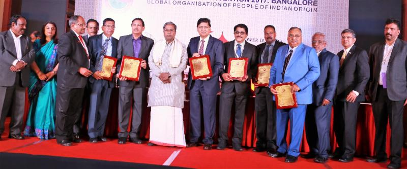 GOPIO Bangalore Convention Awards Banquet Awardees Group