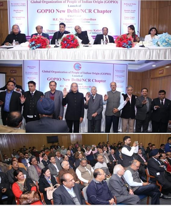 GOPIO-Delhi.NCR Inauguration Headtable