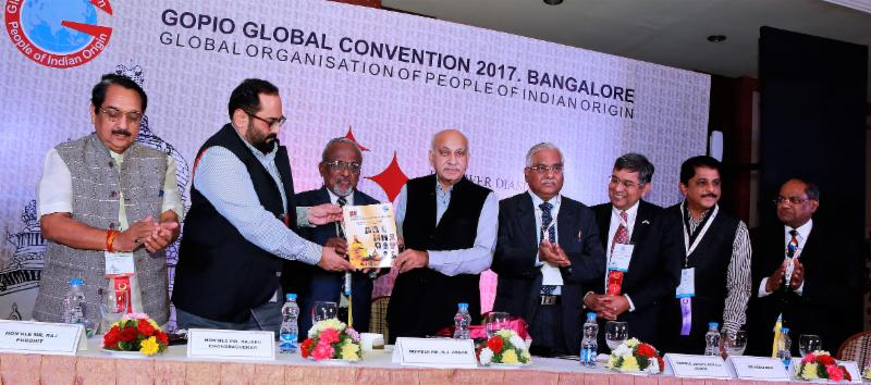 GOPIO Bangalore Convention - Releasing the Book of 28 Years of GOPIO