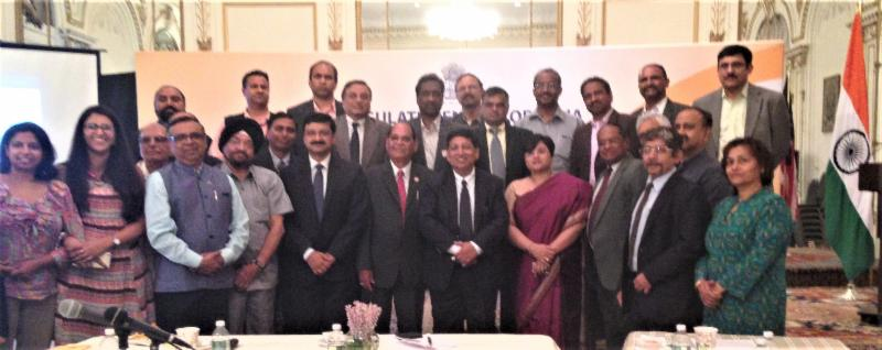 Indian Election Commission members with GOPIO delegation and other community organizations