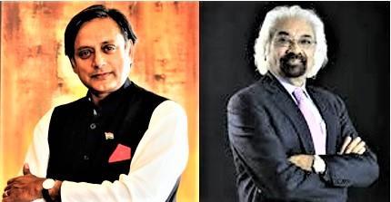Dr. Shashi Tharoor and Sam Pitroda