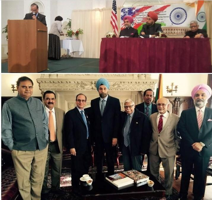 Welcome reception for Ambassador Navtej Sarna by Washington Indian community