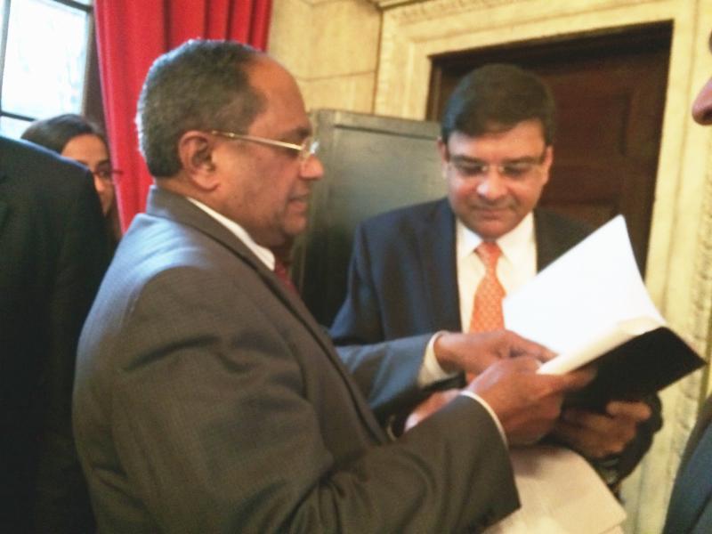 GOPIO Chairman Dr. Thomas Abraham with RBI Governor Dr. Urjit Patel