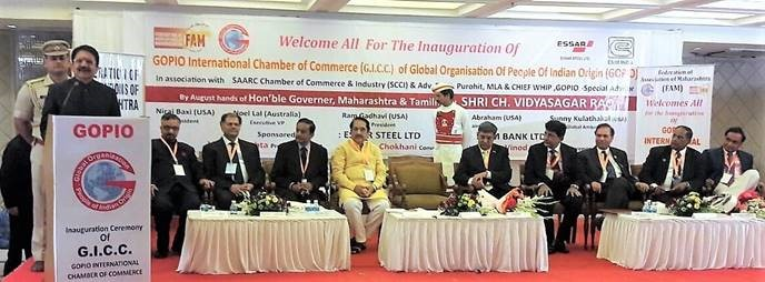 Governor Vidyasagar Rao Inaugurating GOPIO Intl.Chamber of Commerce in Mumbai