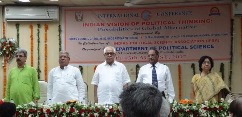 indian vision of political thinking conf.meerut conf.inaugural session.august 2017