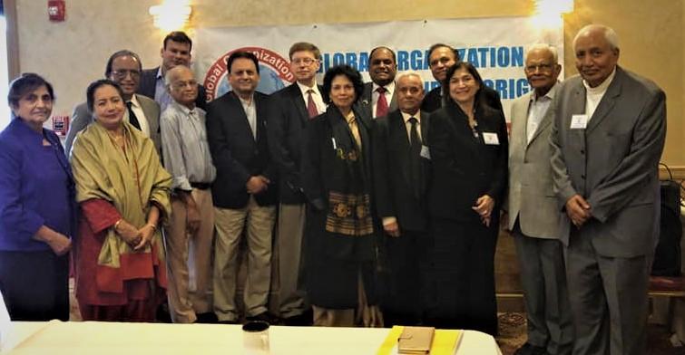 Seminar Panelists Prof. Maya Chadda and Attorney David Nachman with GOPIO officials