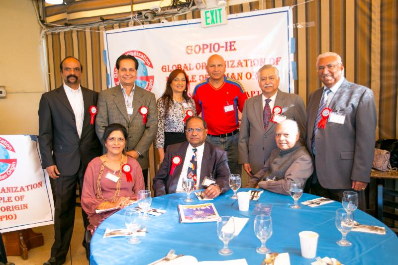 GOPIO Intl officals with GOPIO-Inland Empire Chapter Officials