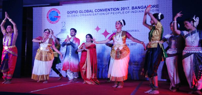 Cultural program finale dance at GOPIO Conv.