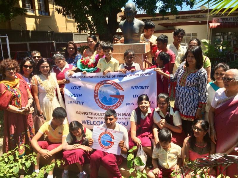 Gandhi Jayanti Celebration by GOPIO Triolet N.Mauritius