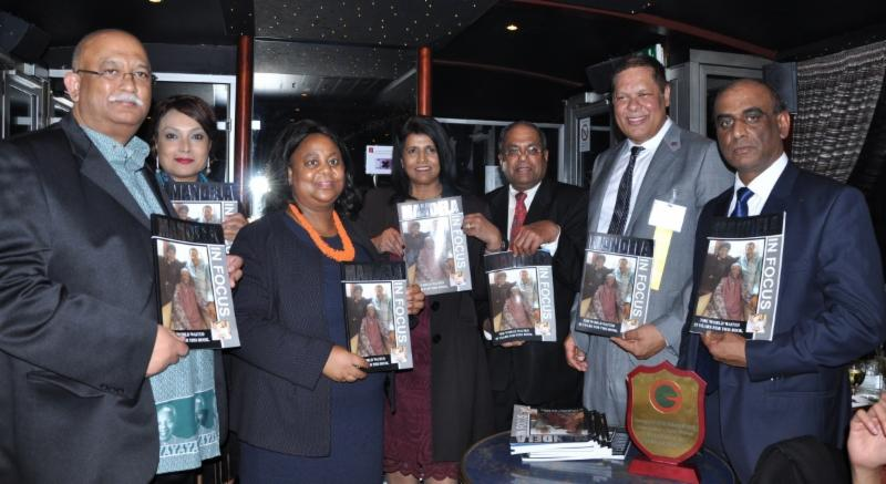 South African Embassy officials releasing the book on Nelson Mandela written by Farook Khan