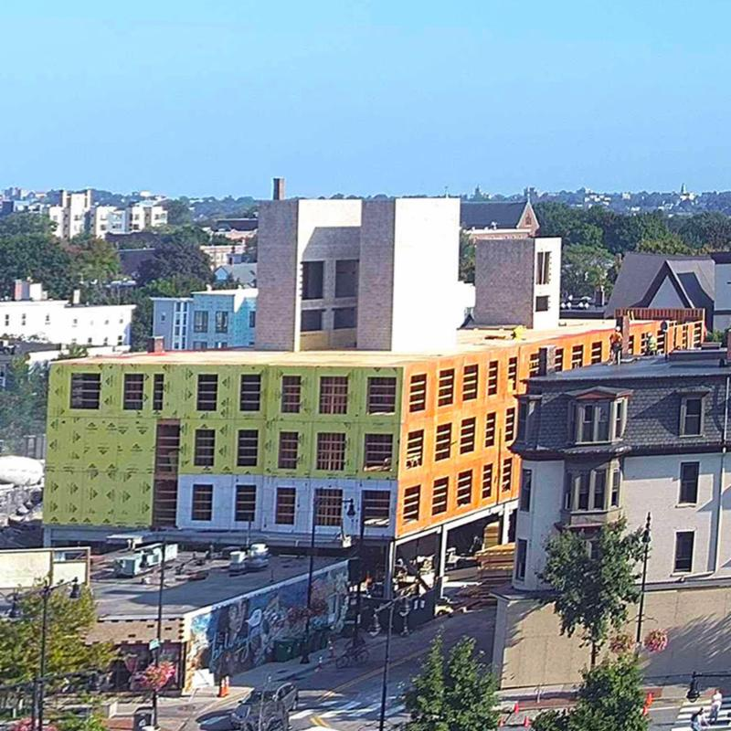 Link co-liv building up to 4th floor