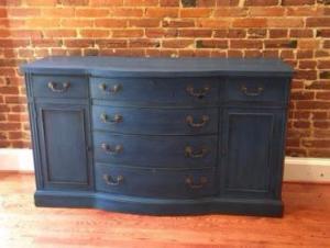 Refinished blue dresser