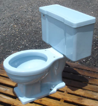 Powder blue 1950s toilet