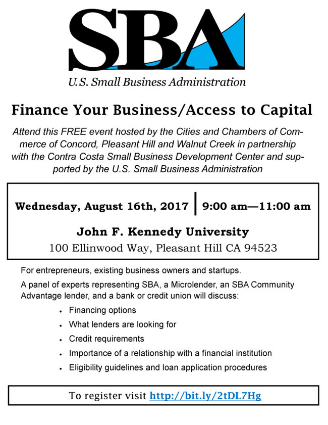 Free Transition Workshop In Concord >> Sba Free Finance Your Business Access To Capital Workshop