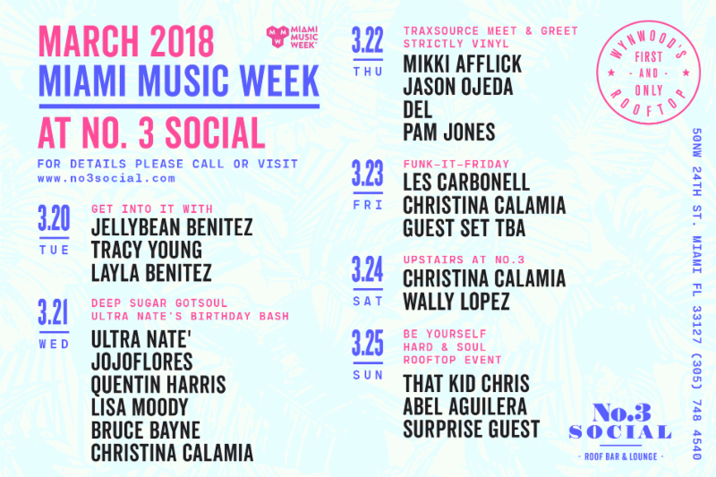 No. 3 Social, Miami Music Week @ No. 3 Social   Miami   Florida   United States