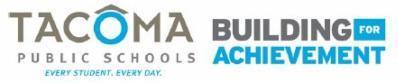 Tacoma Public Schools and Building for Achievement logos