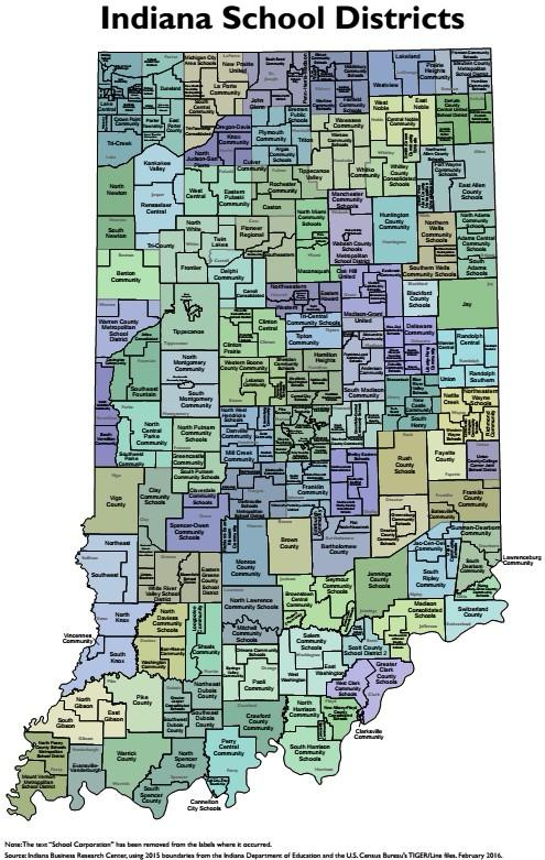 Indiana School District Map