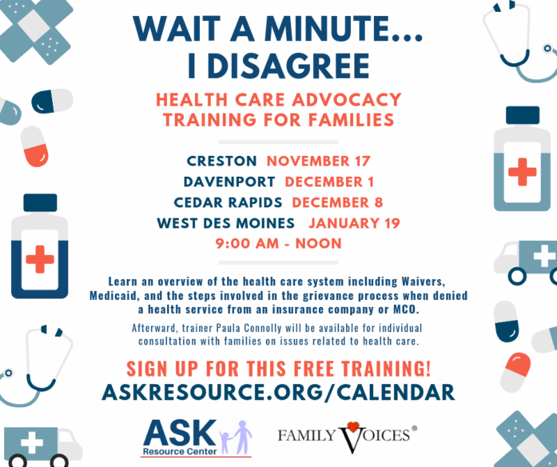 image of health care training flyer