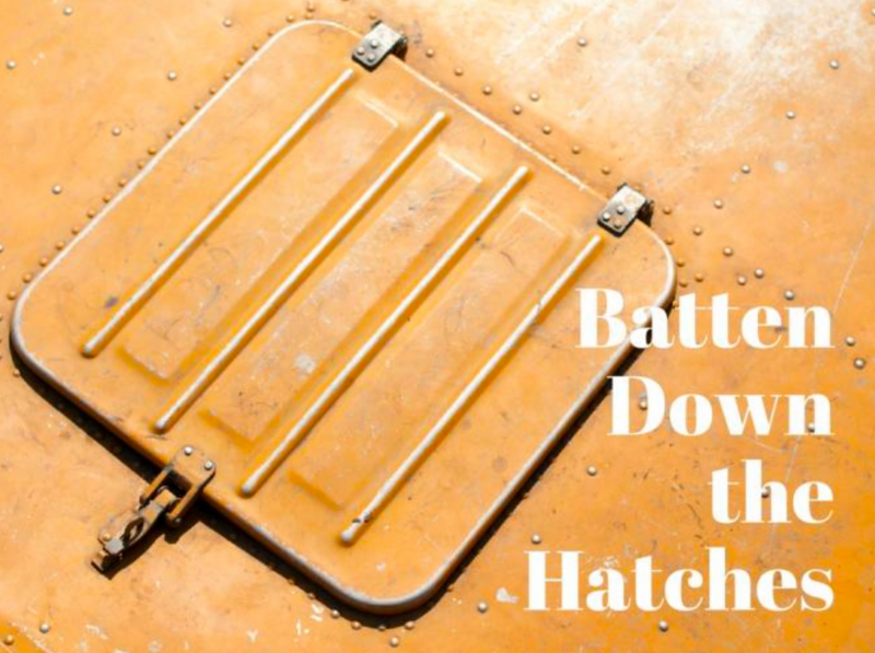 batten down the hatches Has anyone ever told you to batten down the hatches if so, they were telling you to prepare for trouble maybe they saw your boss walking angrily down the hall or maybe they heard the principal call you to his office either way, they were warning you that a big storm was coming—and that you.
