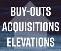 Buy-outs acquisitions and elevations workshop graphic