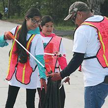 Trash Bash Volunteers picking up trash