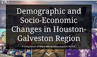 Cover page of Demographic and Socio-economic changes in the Houston-Galveston region