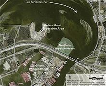 San Jacinto Waste Pits map
