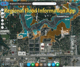 Regional Flood Information Screen Shot