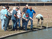 Texas Stream Team Training in the field