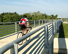 Bicyclist-White-Oak-Bayou-Trail-Houston