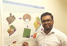 Thushara Ranatunga with his award-winning poster