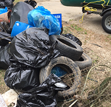 Tires and other trash
