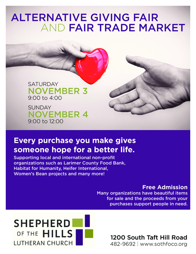 SotH Alternative Giving Fair and Fair Trade Market