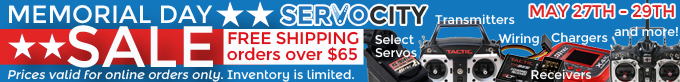 ServoCity Memorial Day Sale_