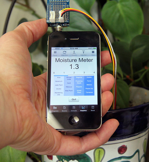 iPhone Into A Plant Moisture Meter