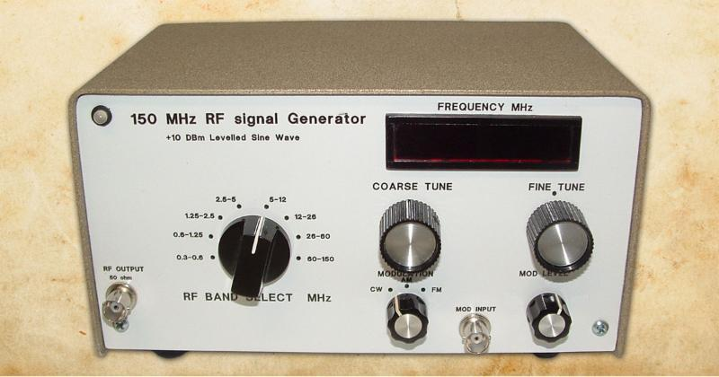 A 150 MHz RF Signal Generator for Your Test Bench