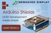 Newhaven Display Color OLED Arduino Shields