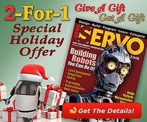 SERVO Magazine - 2 for 1 Holiday Subscription Offer