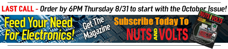 Subscribe To Nuts and Volts - LAST CALL_