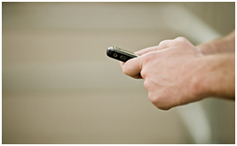 hands texting on phone