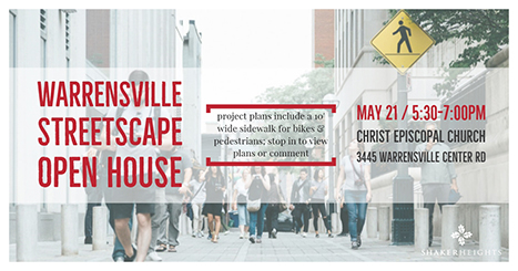 Warrensville Streetscape Open House May 21 2018