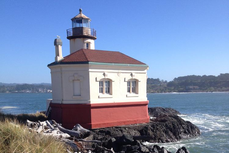 Coquille River Lighthouse near Bandon, Oregon