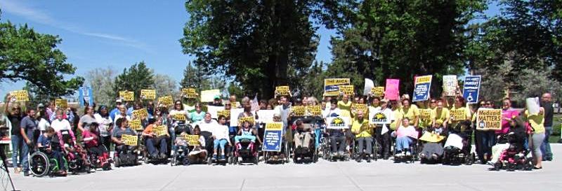 Idaho Falls Medicaid Matters In Idaho Rally participants