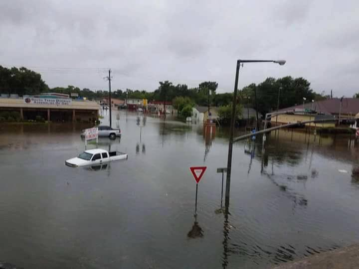 Assemblies of God South Texas District Office is flooded.