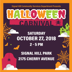 Halloween Carnival October 27 2-5pm Signal Hill Park